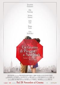 un giorno di pioggia a New York poster