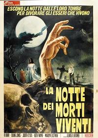 la notte dei morti viventi poster