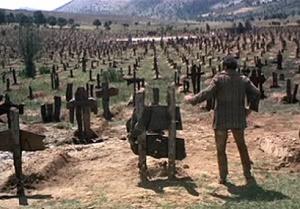 il buono, il brutto, il cattivo scena cimitero